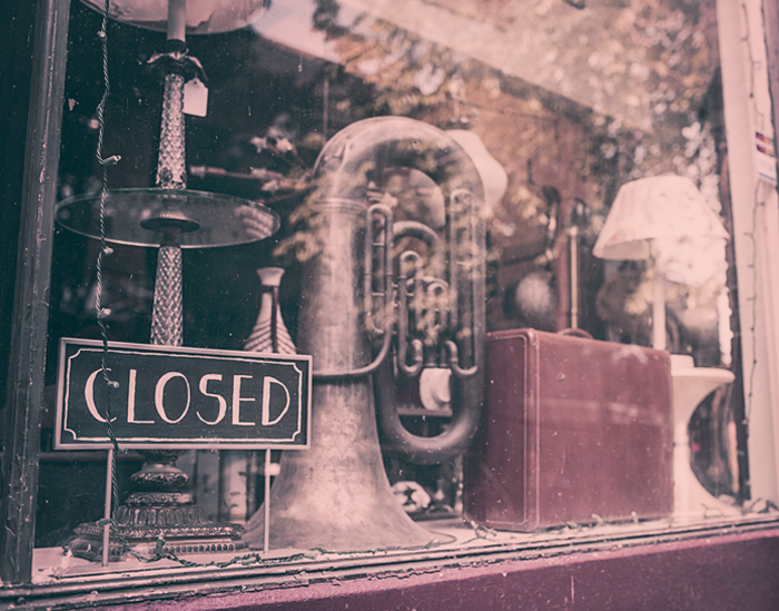 Free stock photo of vintage, music, closed, shop