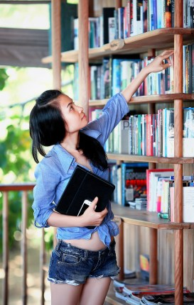academic, adolescent, bookcase