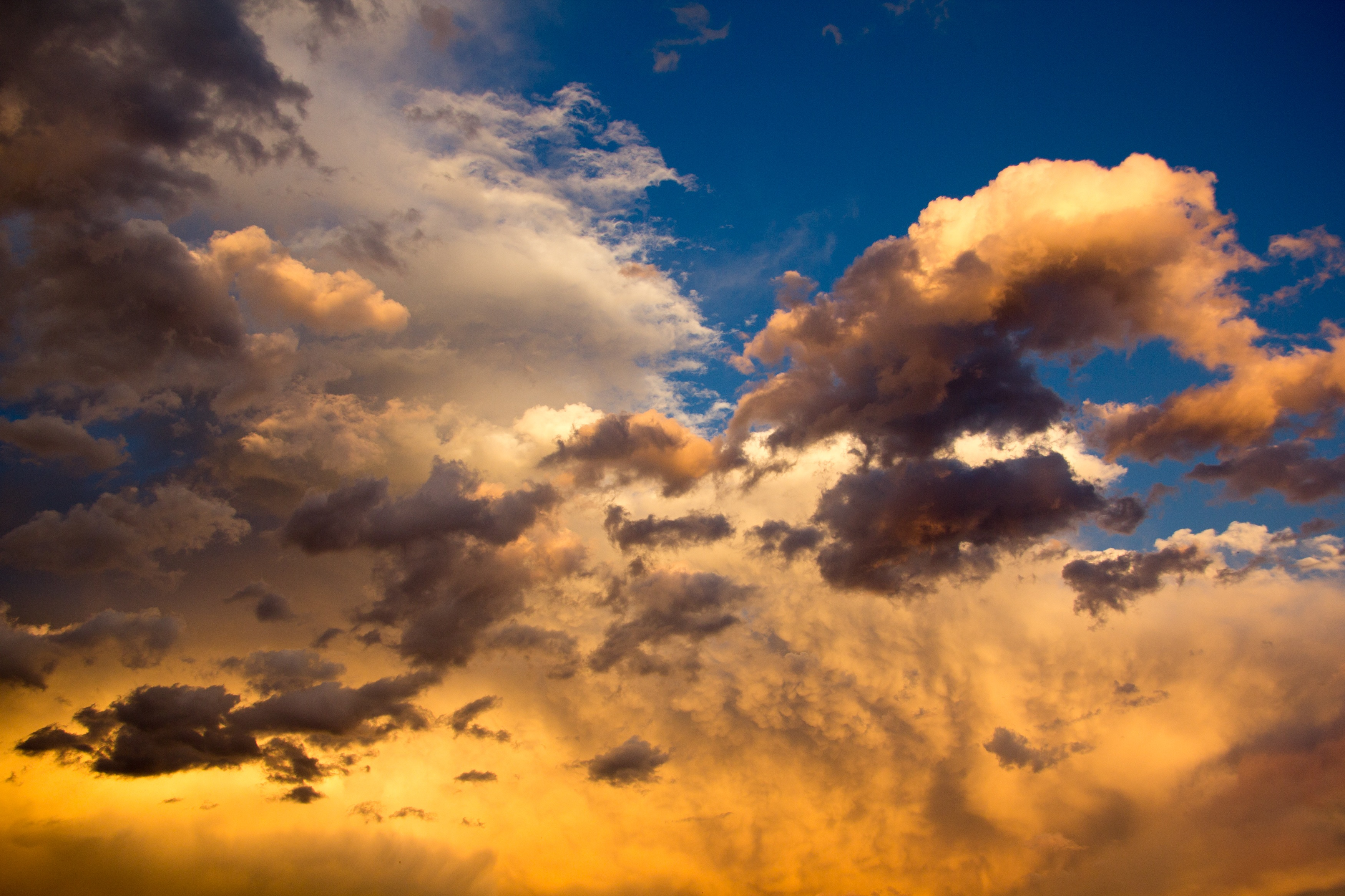 Car Wallpapers 2014 Download Nimbus Clouds On Clear Blue Sky During Golden Hour 183 Free