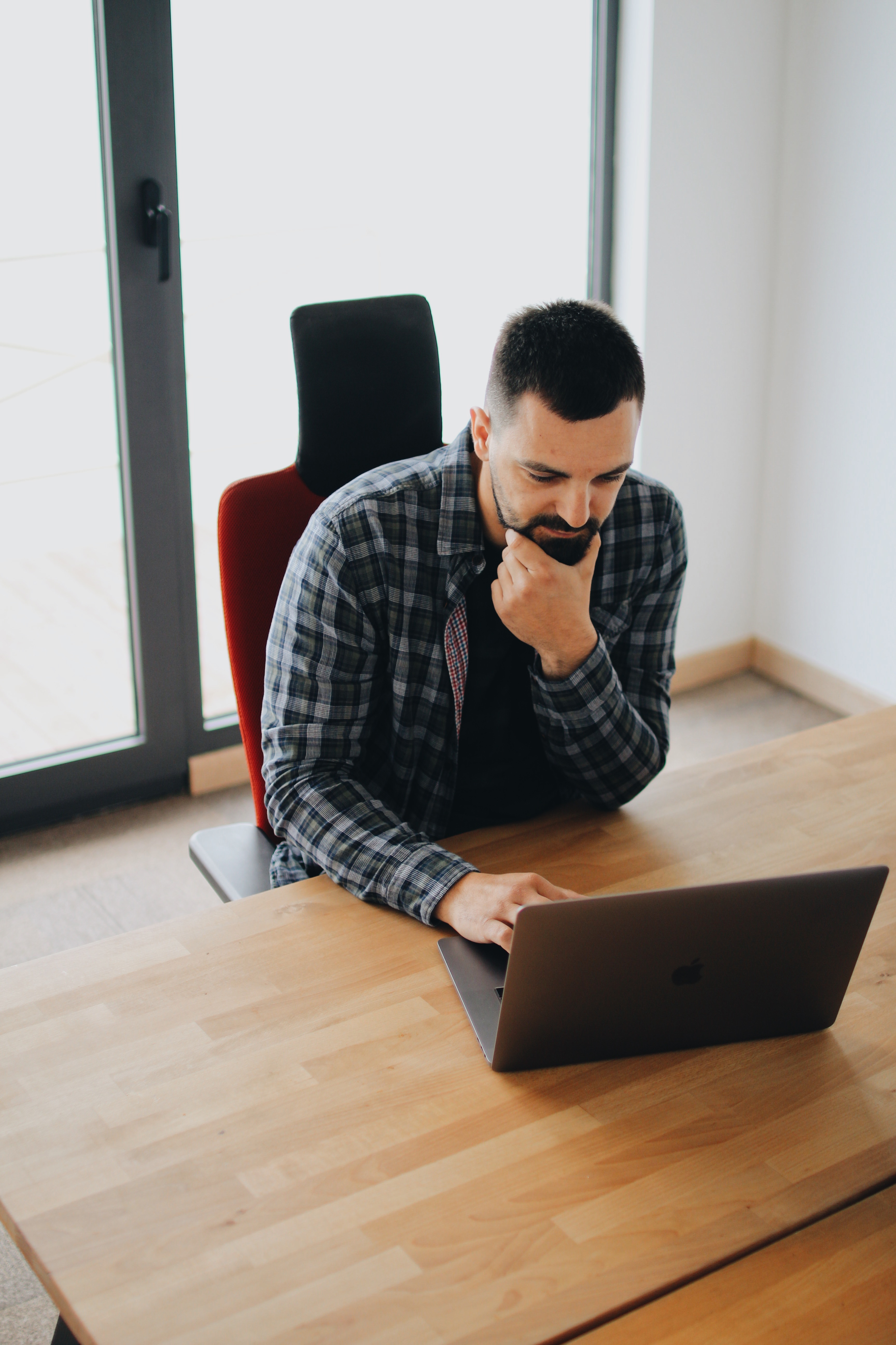 Man Using Laptop Computer  - pexels photo 2102415 - Do This Every Day to Build a Massive Brand on Instagram and Beyond
