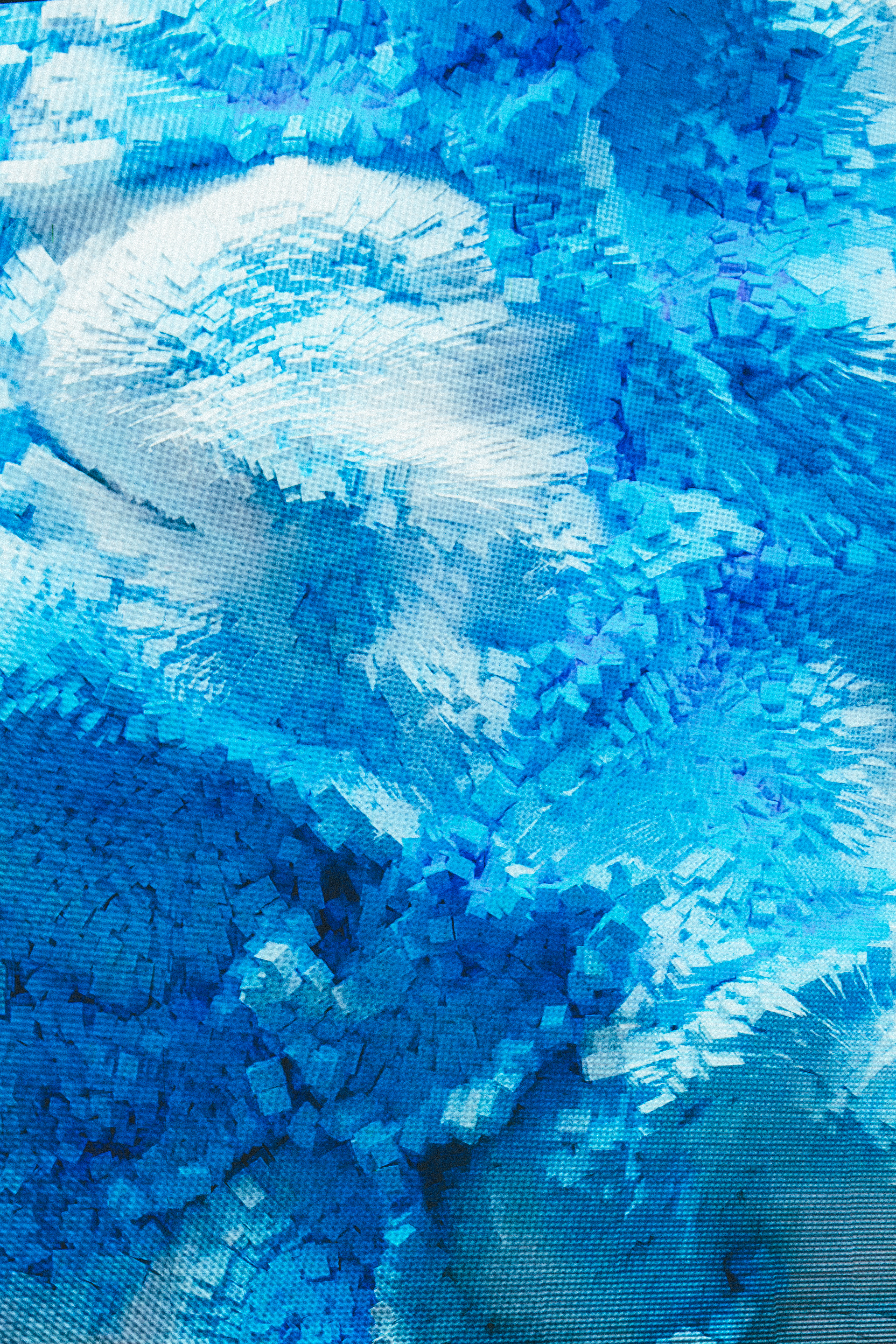 blue and white abstract