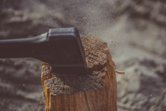 Black Axe on Wood