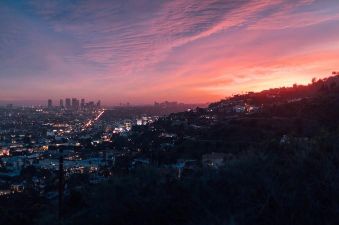 City Near Mountain During Golden Hour