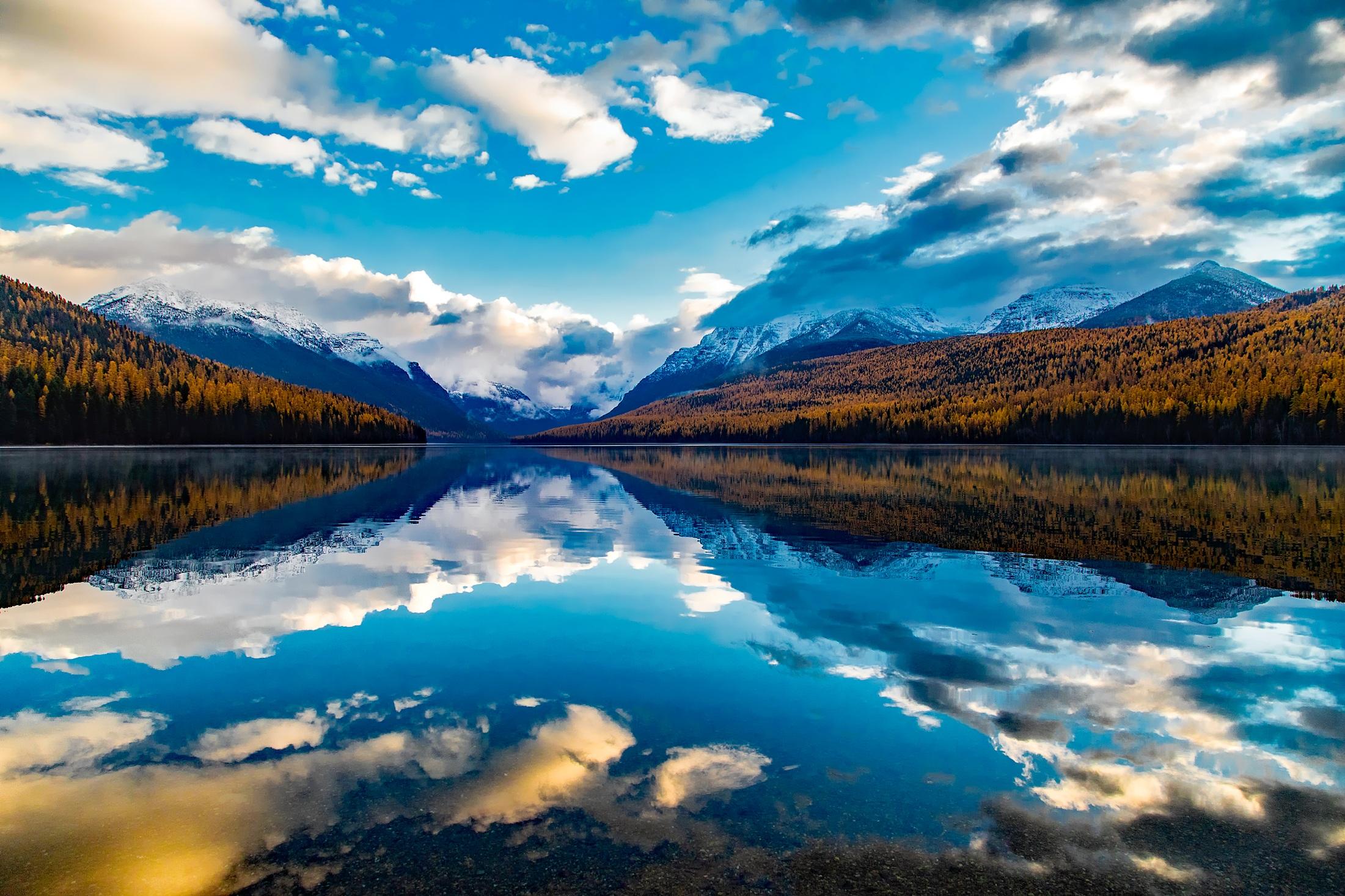 Natural Falls Wallpaper Free Download Free Stock Photo Of Clouds Lake Lake Mcdonald