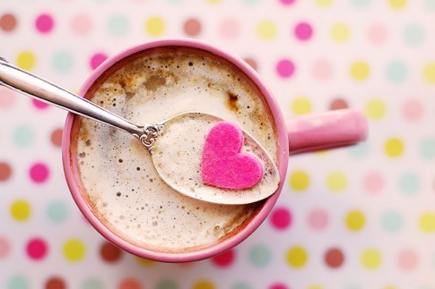 Heart Cutout on a Coffee Cup