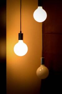 Turned on Pendant Lamp  Free Stock Photo