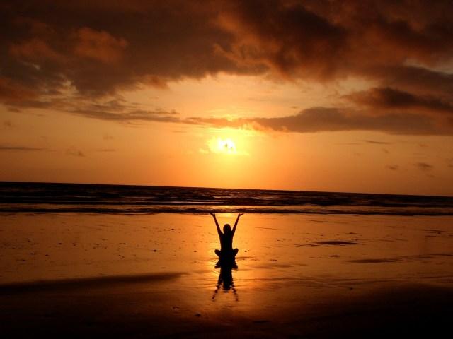 backlit, balance, beach