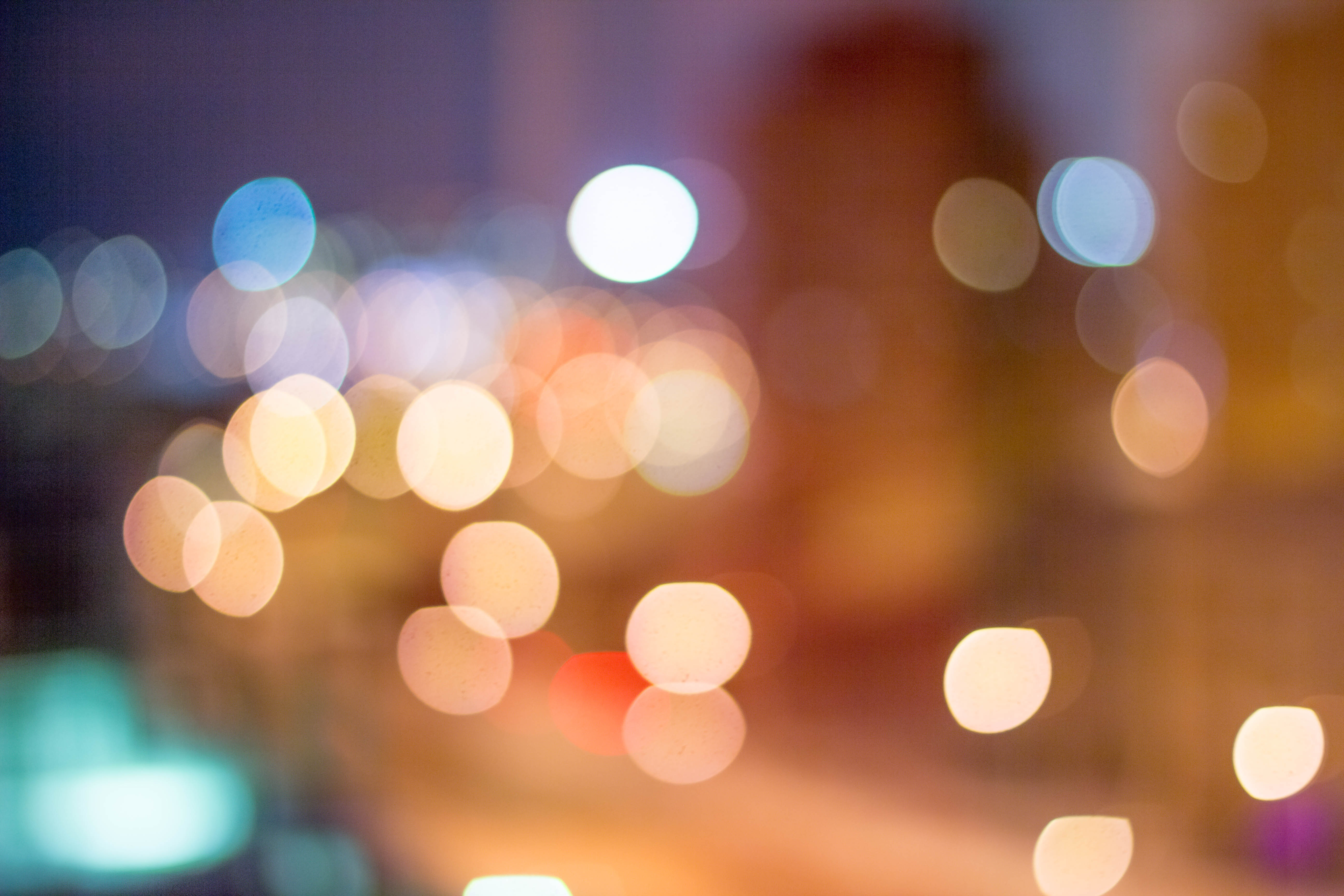 Round Faded Lights During Nighttime Free Stock Photo