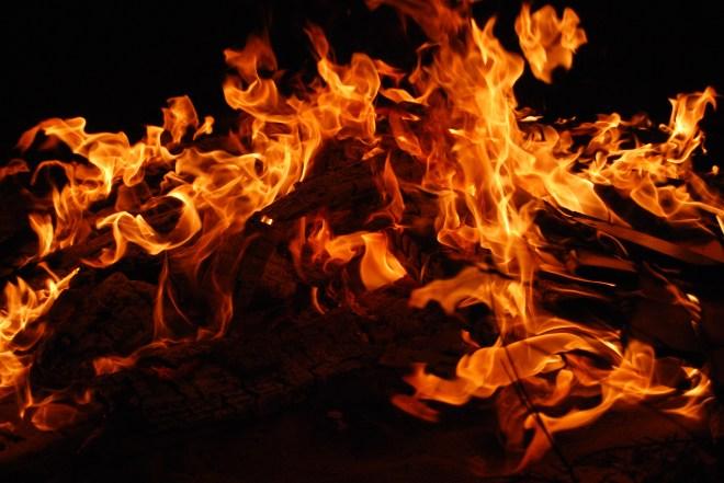 たき火, ホット, 火