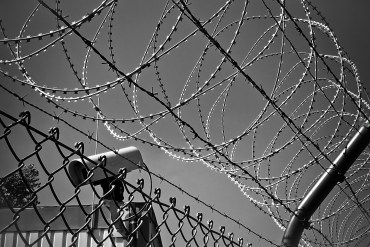 abstract, barbed wire, black white