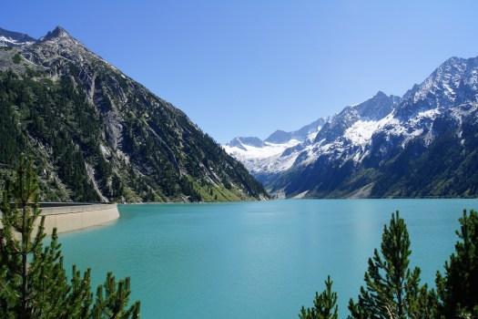 Mountain View Wallpaper Hd Black Mountain Near Green Body Of Water Under Blue Sky