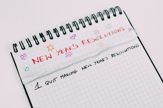 common New Year resolutions