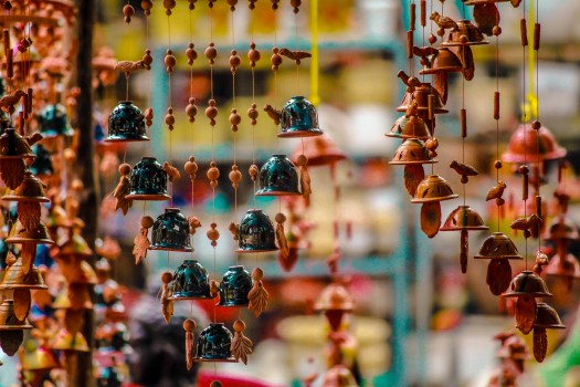 Ornaments Hanging for Sale in Market