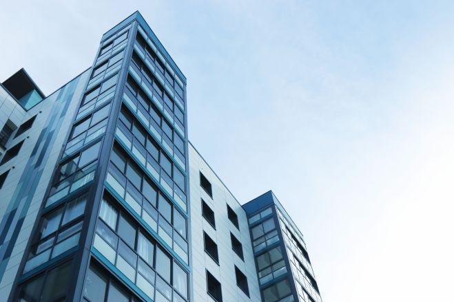 アパート, ガラス窓, コンテンポラリー