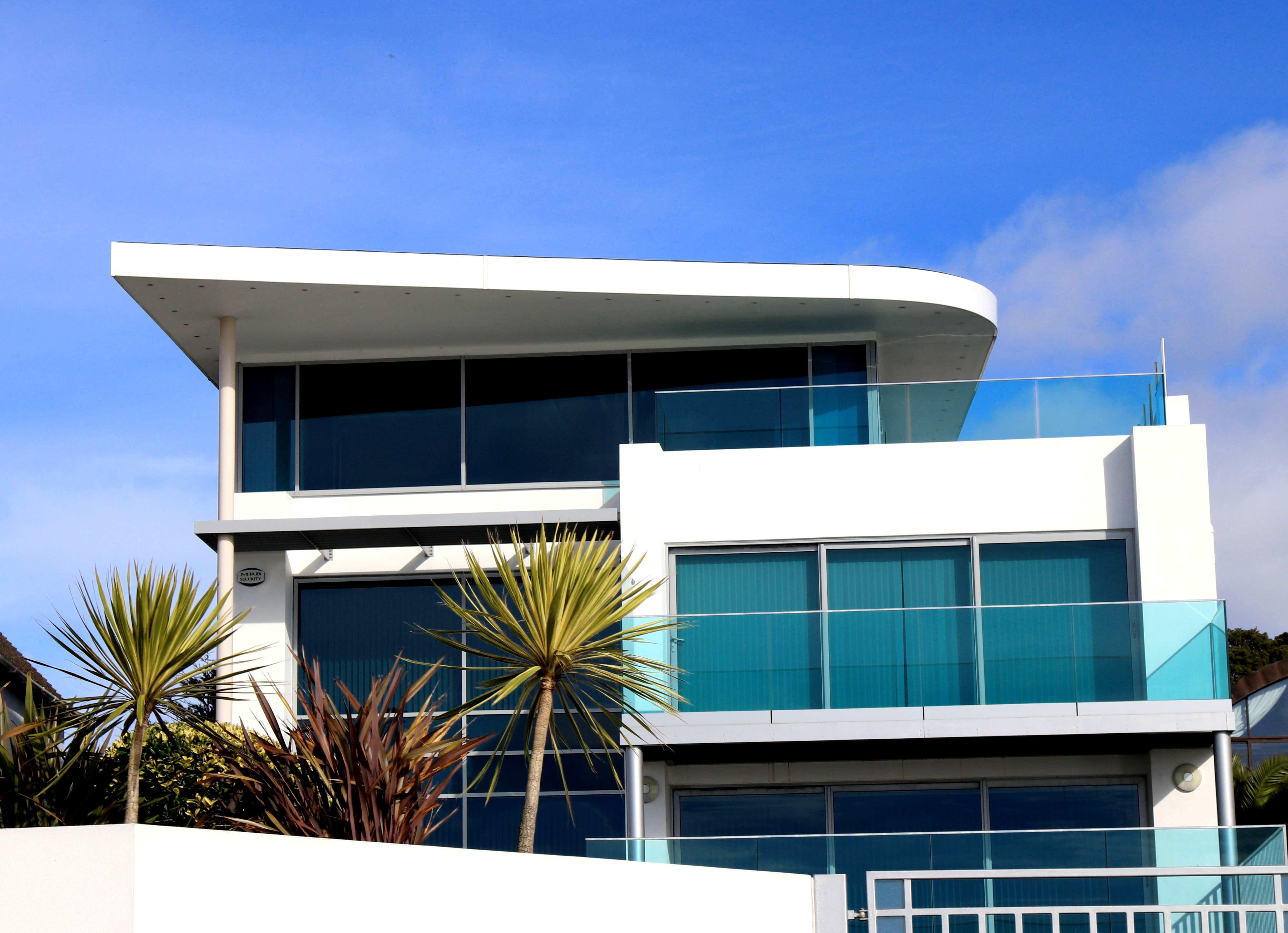 Modern Building Against Blue Sky  Free Stock Photo