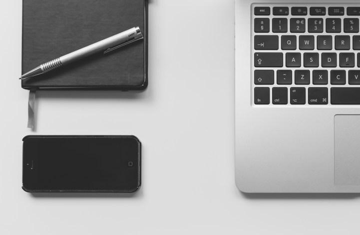 Free stock photo of iphone, smartphone, desk, laptop