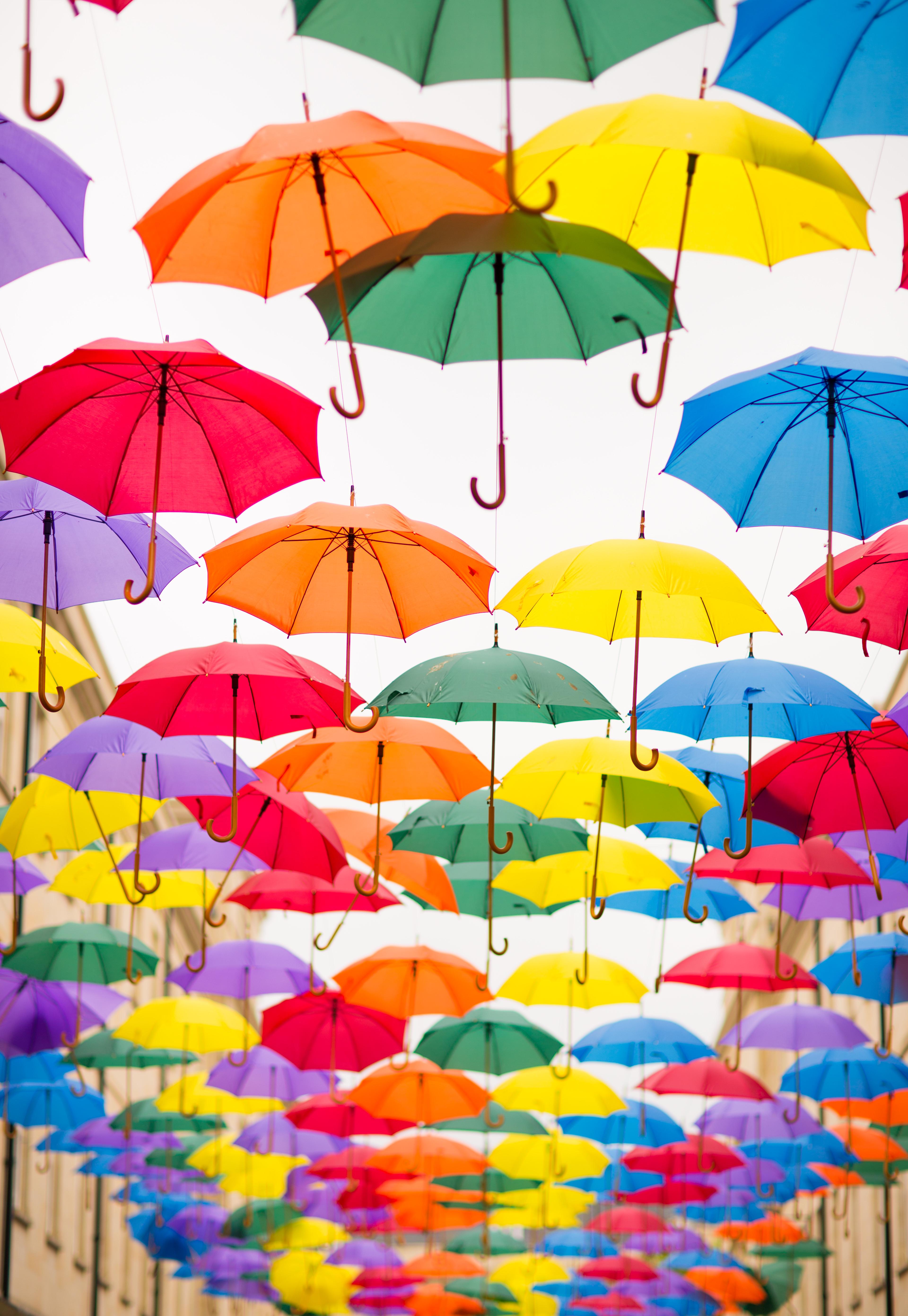Iphone Wallpaper Grey Pink Grey And Green Folding Umbrella Painting 183 Free Stock