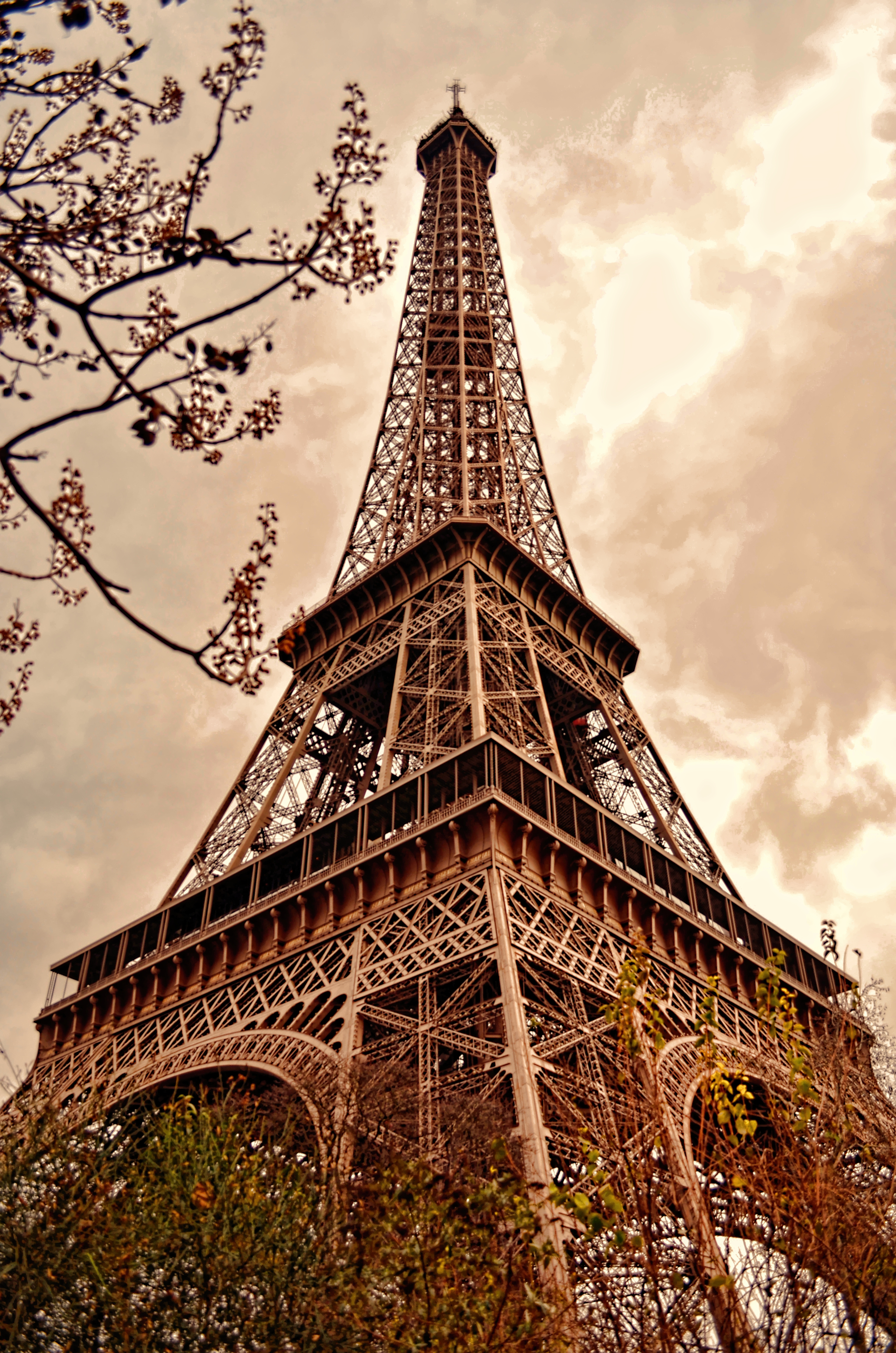 Girl New Wallpaper Download Eiffel Tower Illustration 183 Free Stock Photo