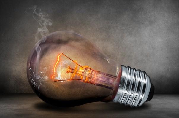 bulb, close-up, crack
