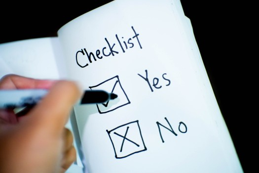 pen, writing, checklist