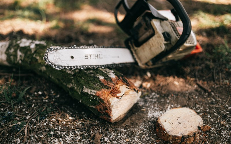 chainsaw-in-the-woods