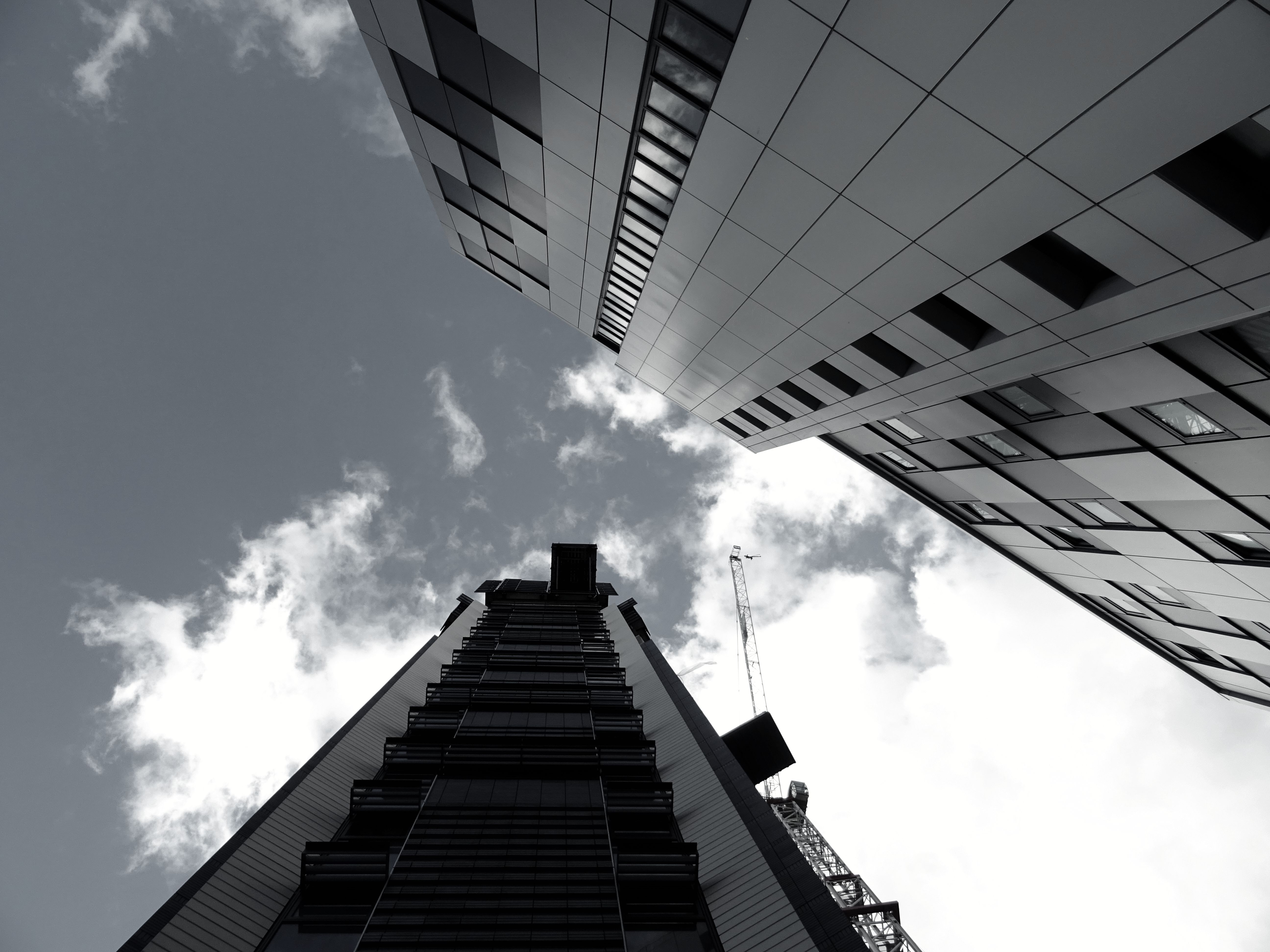 Low Angle View Of Office Building Against Sky Free Stock