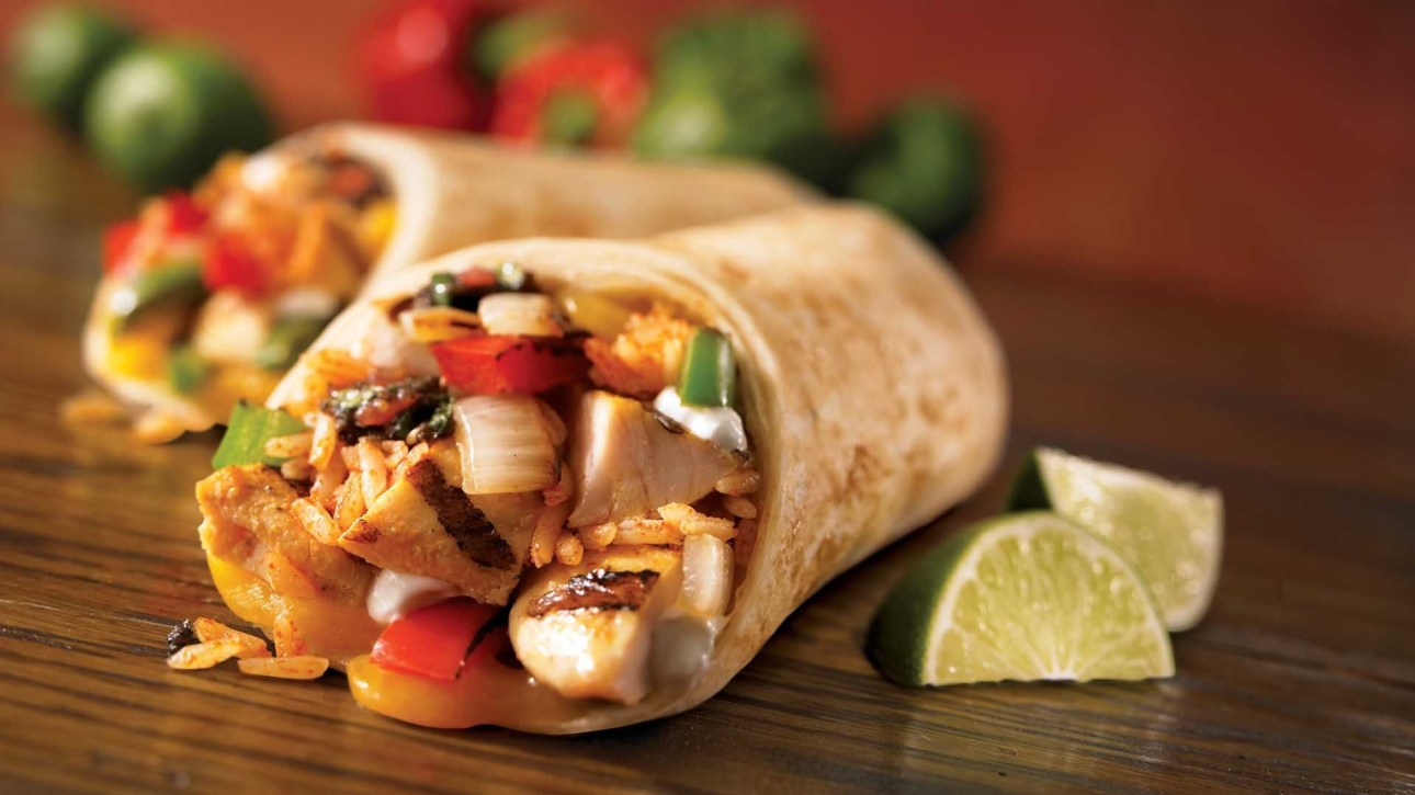 burrito, chicken, close-up