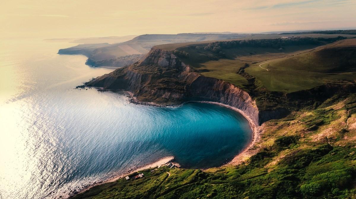 Free stock photo of aerial view beach beautiful
