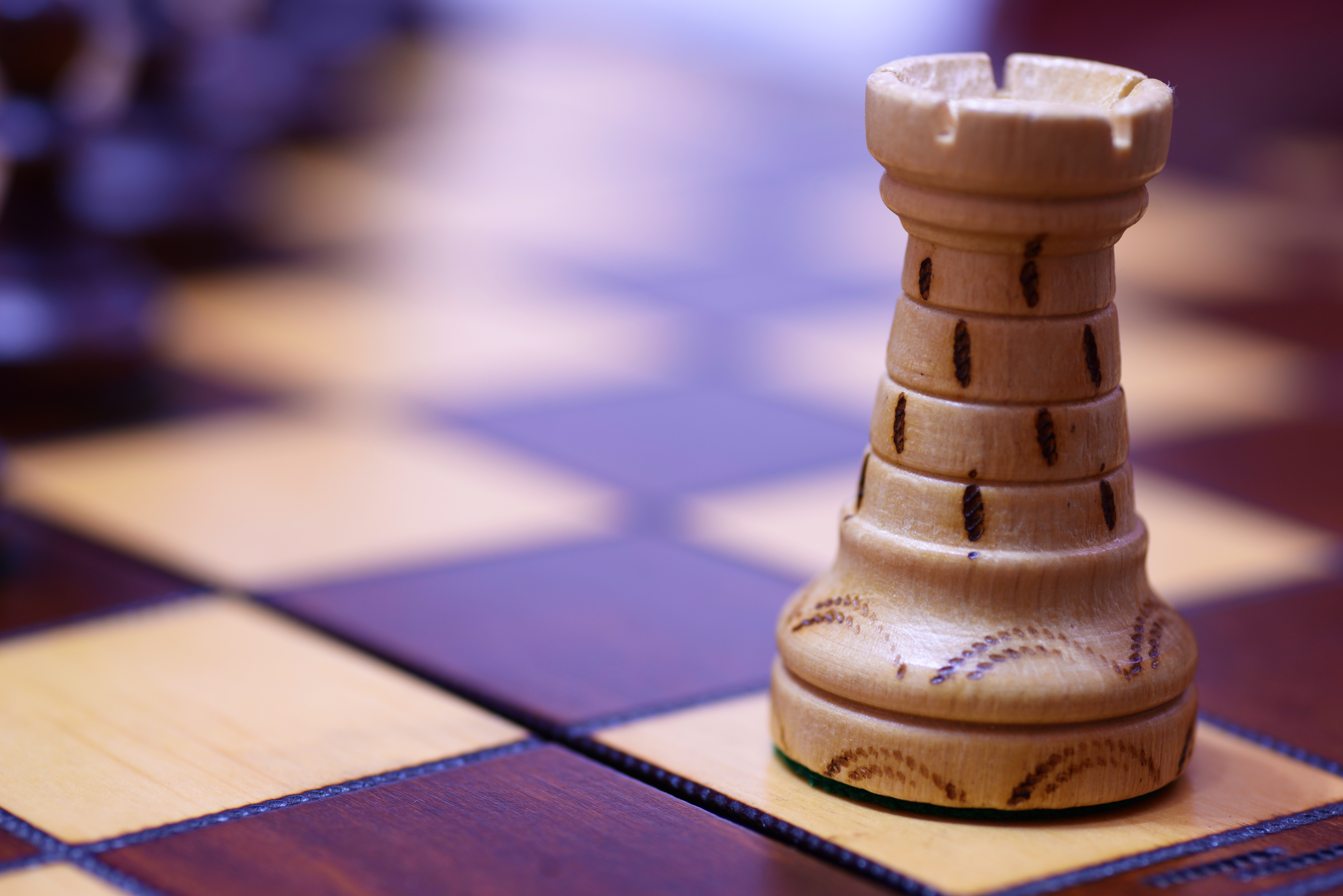White Chess Piece on Top of Chess Board  Free Stock Photo