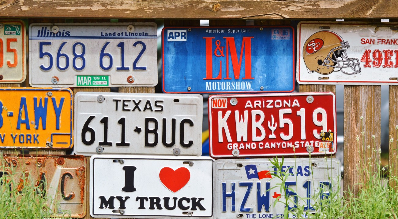 american number plates, art, conceptual
