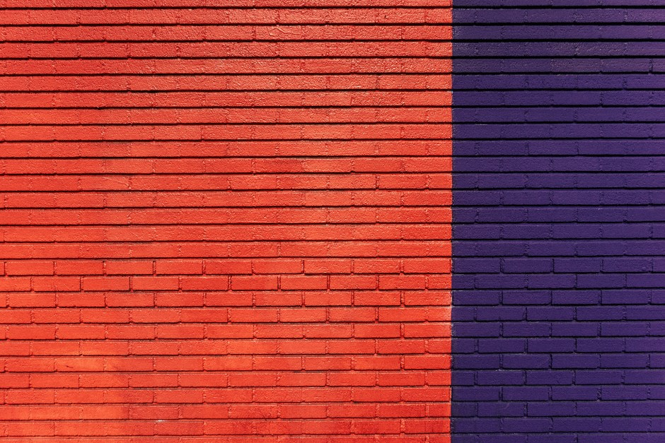Brick Wall Black And White Wallpaper Red And Purple Concrete Wall 183 Free Stock Photo
