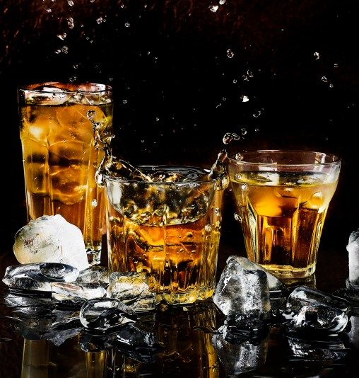 alcohol, bar, black background