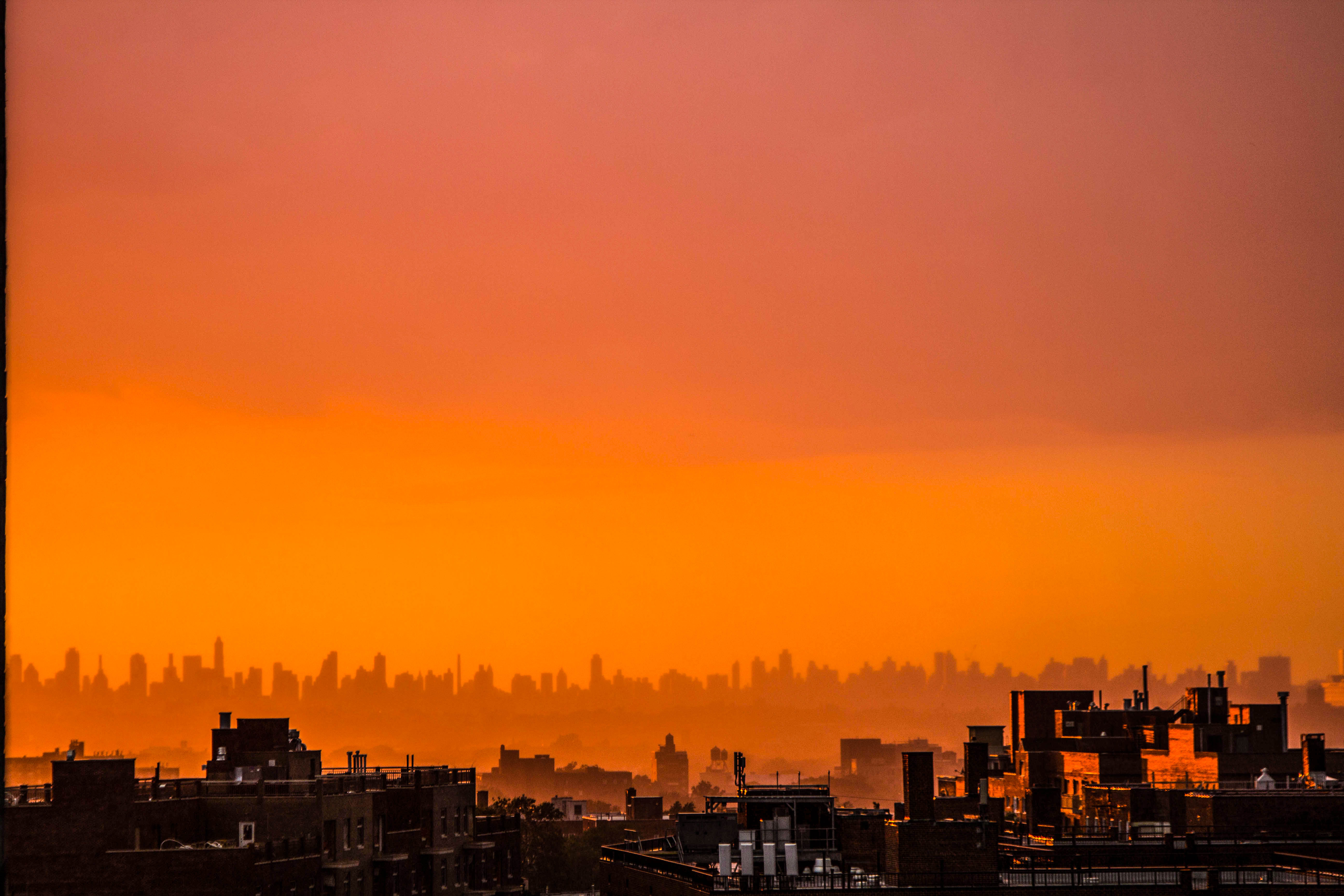 Sky Hd Wallpaper Silhouette Photo Of City Building During Sunset 183 Free