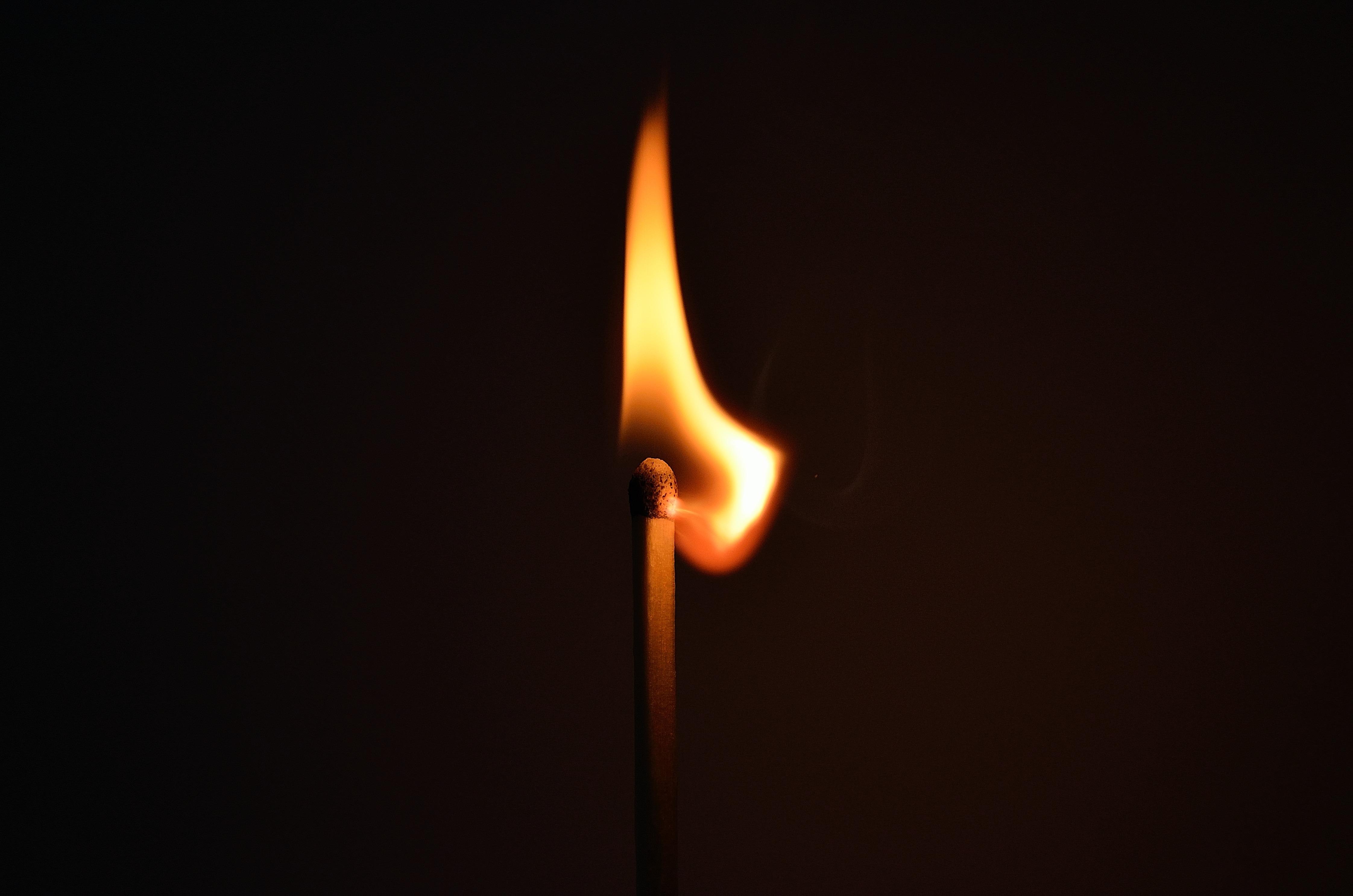 lighted burning match free