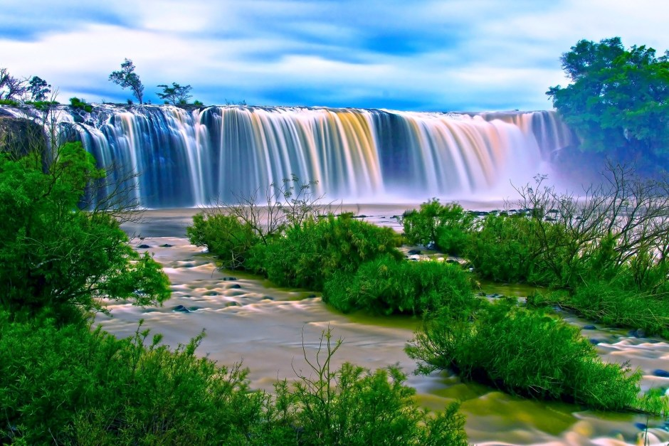 Animated Fall Wallpaper Water Falls Surrounding Green Grass During Daytime 183 Free