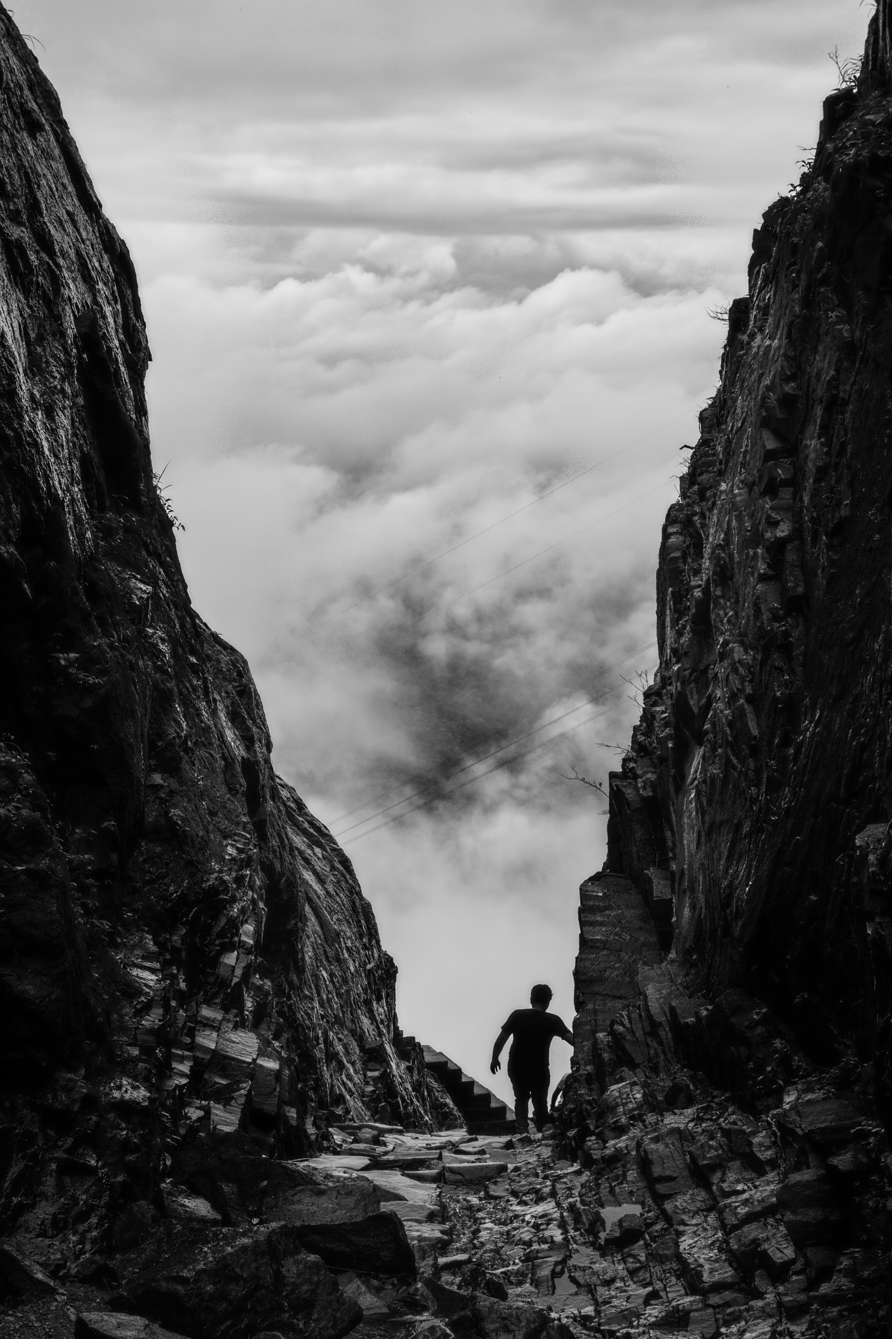 Custom Iphone X Wallpaper Man Standing On A Cliff 183 Free Stock Photo