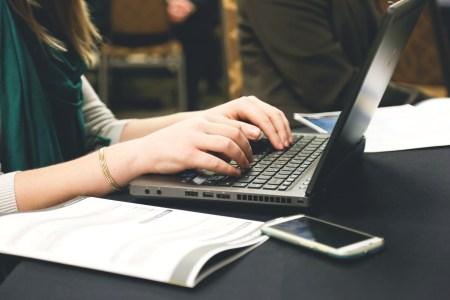 computer, desk, email