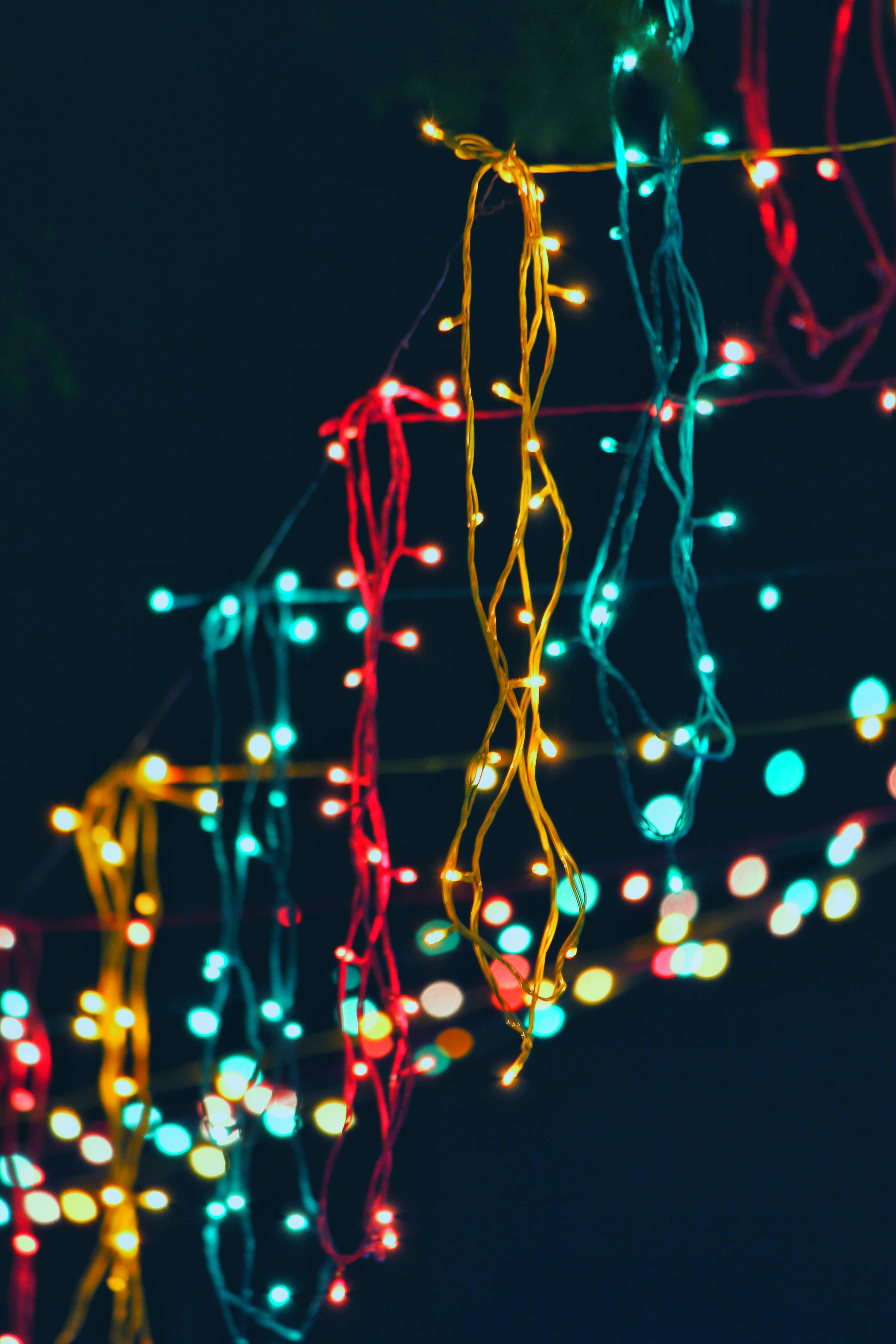 Iphone X Wallpaper Hd 4k Close Up Photography Of Man Holding Christmas Lights