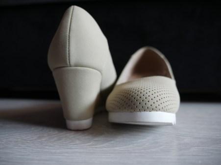 Beige Kitten Heels Shoes