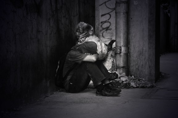 Monochrome Photo of a Homeless Man  how to overcome fear my biggest fear in life