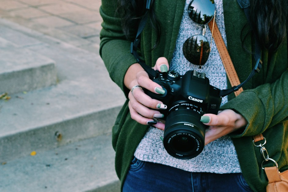 Dslr Camera With Girl Wallpaper Woman Holding Black Canon Dslr Camera 183 Free Stock Photo