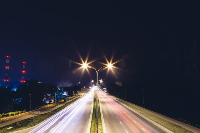 Timelapse Photography of Road at Night