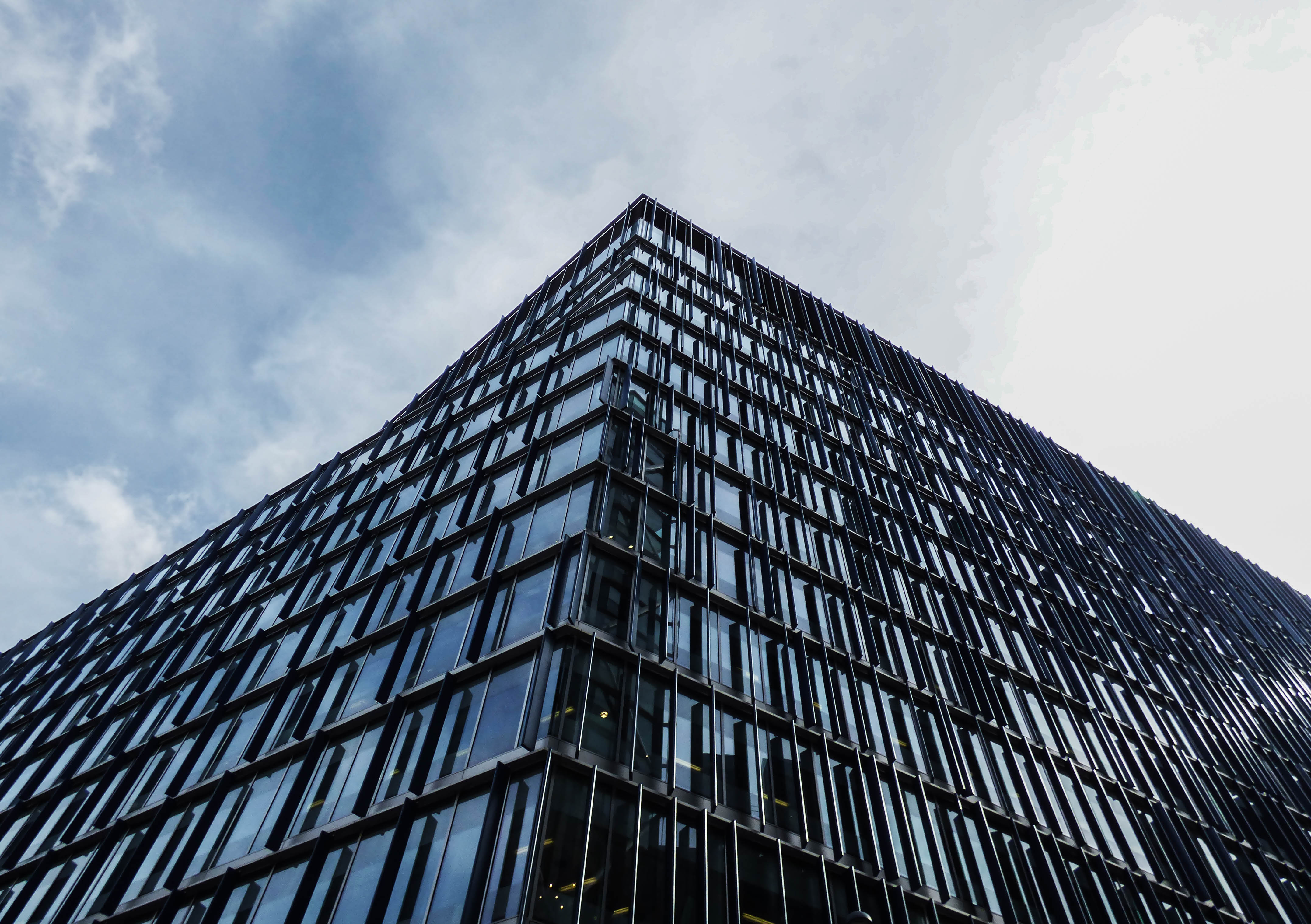 Black Glass Building Free Stock