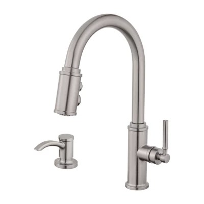 1 handle pull down kitchen faucet