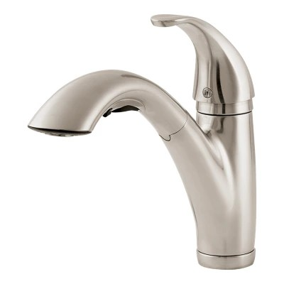 parisa lg534 7ss 1 handle pull out kitchen faucet