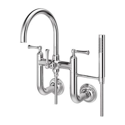 wall mount 2 handle tub filler