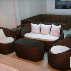 Wicker Sofa Set Philippines Tufted Sectional Canada Image Gallery For Synthetic Rattan Egg Shape