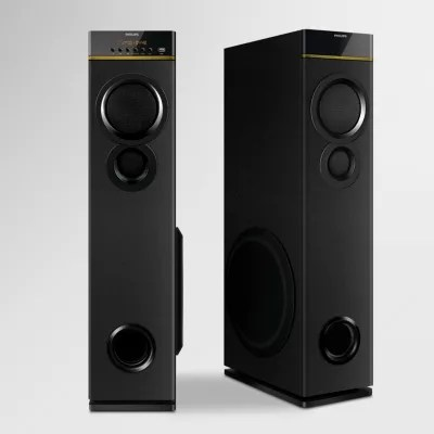 multimedia tower speakers with wireless microphone [ 1250 x 1250 Pixel ]