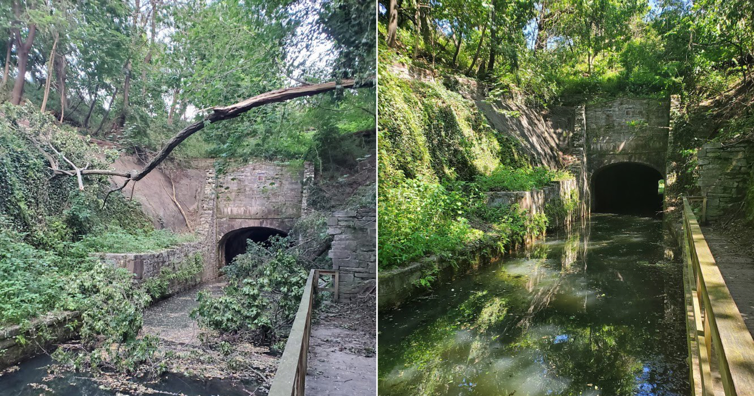 Friends of Union Canal Tunnel Park repair storm damage
