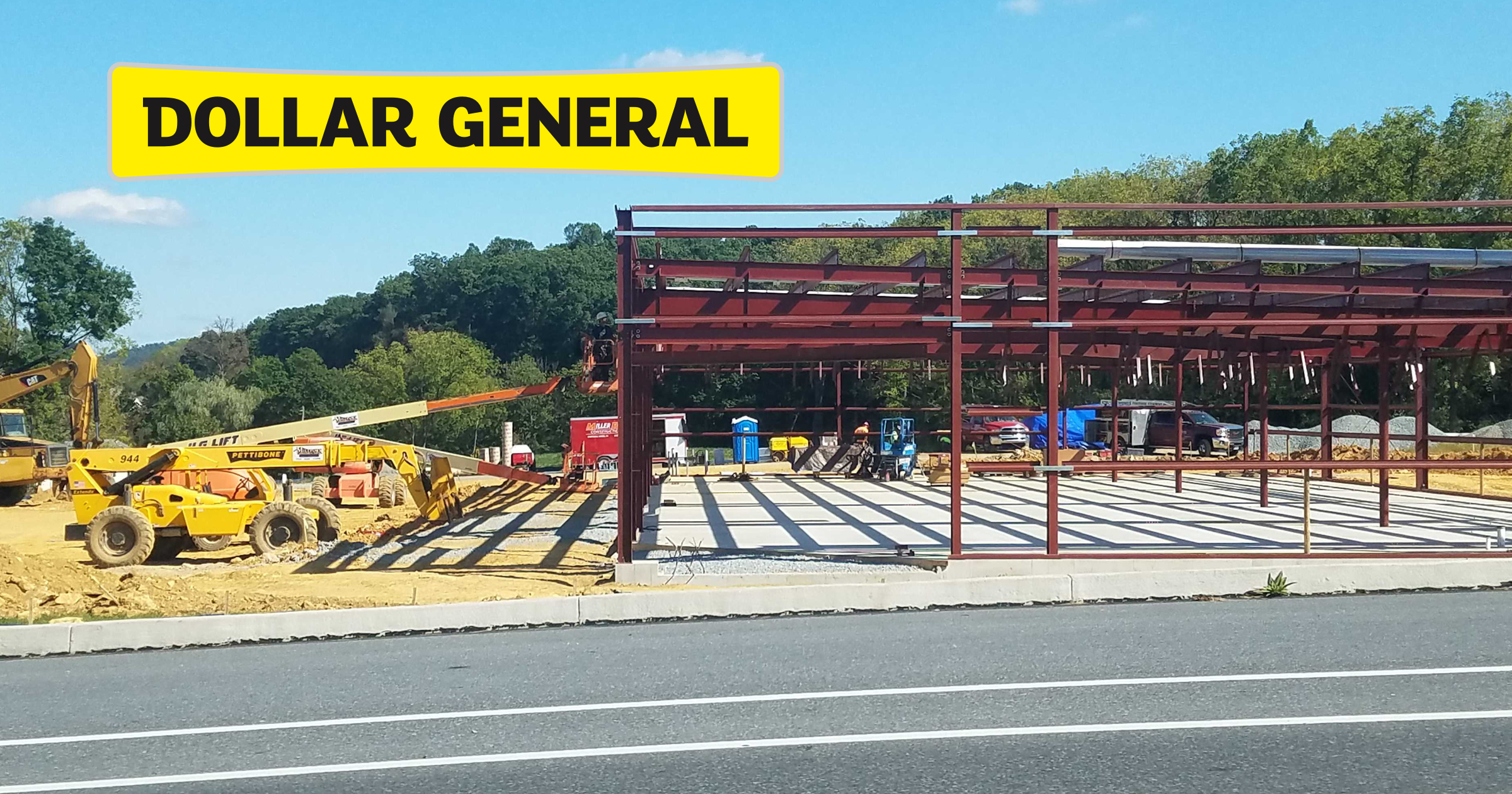 Dollar General under construction next to Eagle Rental will be county's eighth